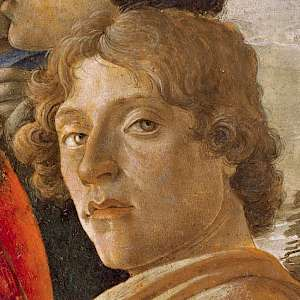 A self-portrait detail hidden in the The Adoration of the Magi (c. 1475) by Botticelli in the Uffizi, Florence (Photo courtesy of the Uffizi)