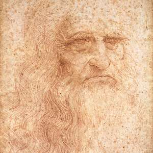 Self-portrait (c. 1512) by Leonardo Da Vinci—or at least it is believed to be a self portrait—in the Biblioteca Reale, Turin (Photo courtesy of the Biblioteca Reale)