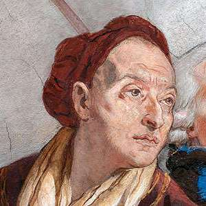 Self Portrait of Giambattista Tiepolo (1752–53), detail from the Residenz Würzburg ceiling frescoes (Photo courtesy of the Residenz Würzburg)
