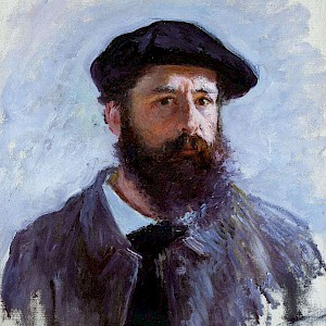 Self Portrait with Beret (1886) by Claude Monet, in a Private Collection (Photo by unknown)