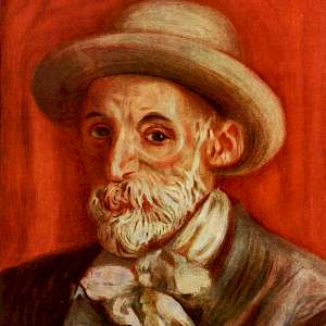 Self Portrait (1910) by Pierre Auguste Renoir, in a Private Collection (Photo by Renoir)