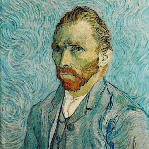 Self Portrait (1889) by Vincent van Gogh, in the Musée d'Orsay, Paris (Photo courtesy of the Musée d