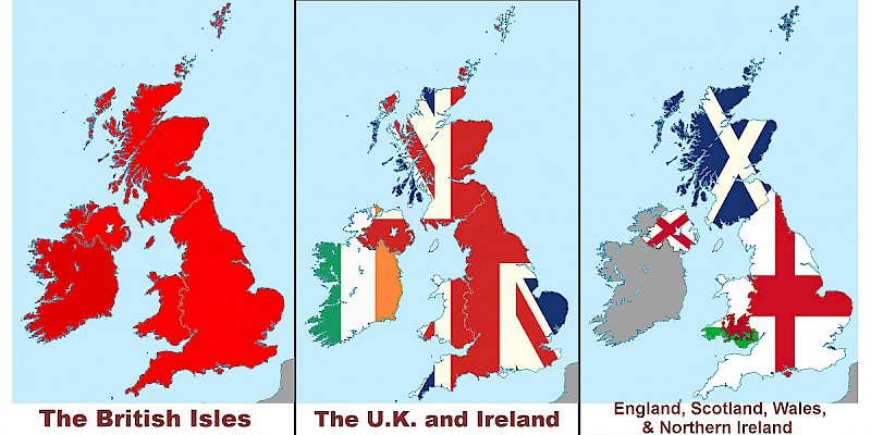 Map Of England And Britain.Uk Or Great Britain England U K