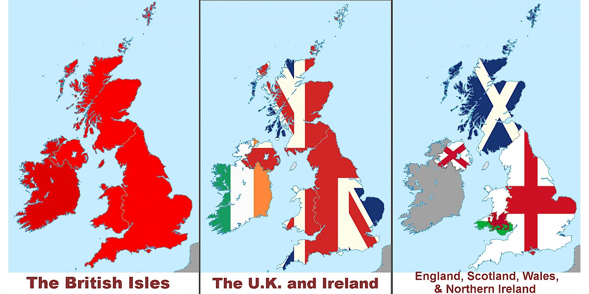 Uk or great britain england uk map showing the british isles united kingdom and ireland and constituent countries of the uk gumiabroncs