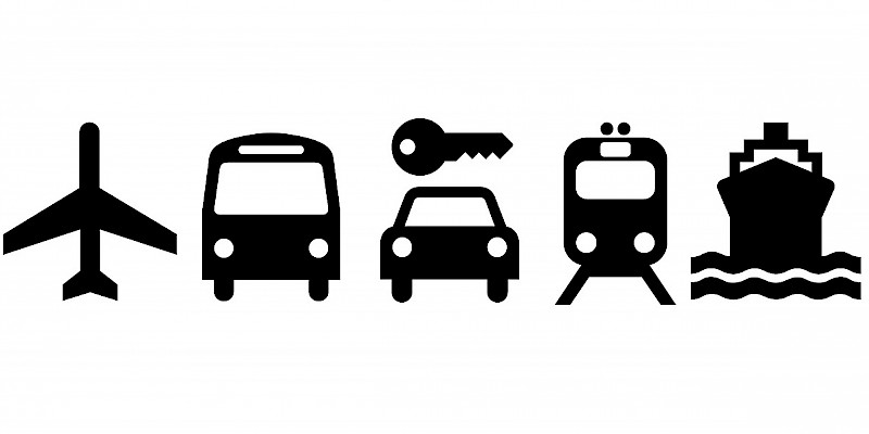 Transportation options to and within the United Kingdom, Transport, General (Photo icons courtesy of AIGA; illustrations by Reid Bramblett)
