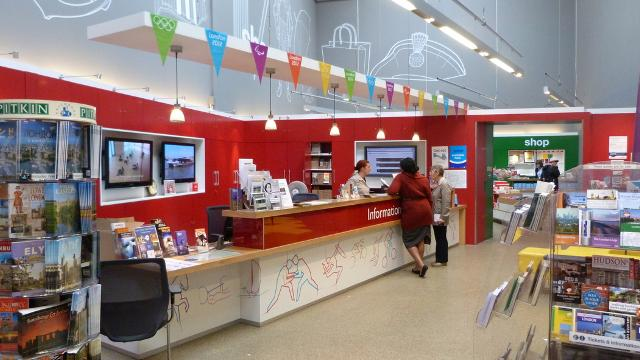 inside the greenwich tourist information centre london tourist information london photo courtesy of