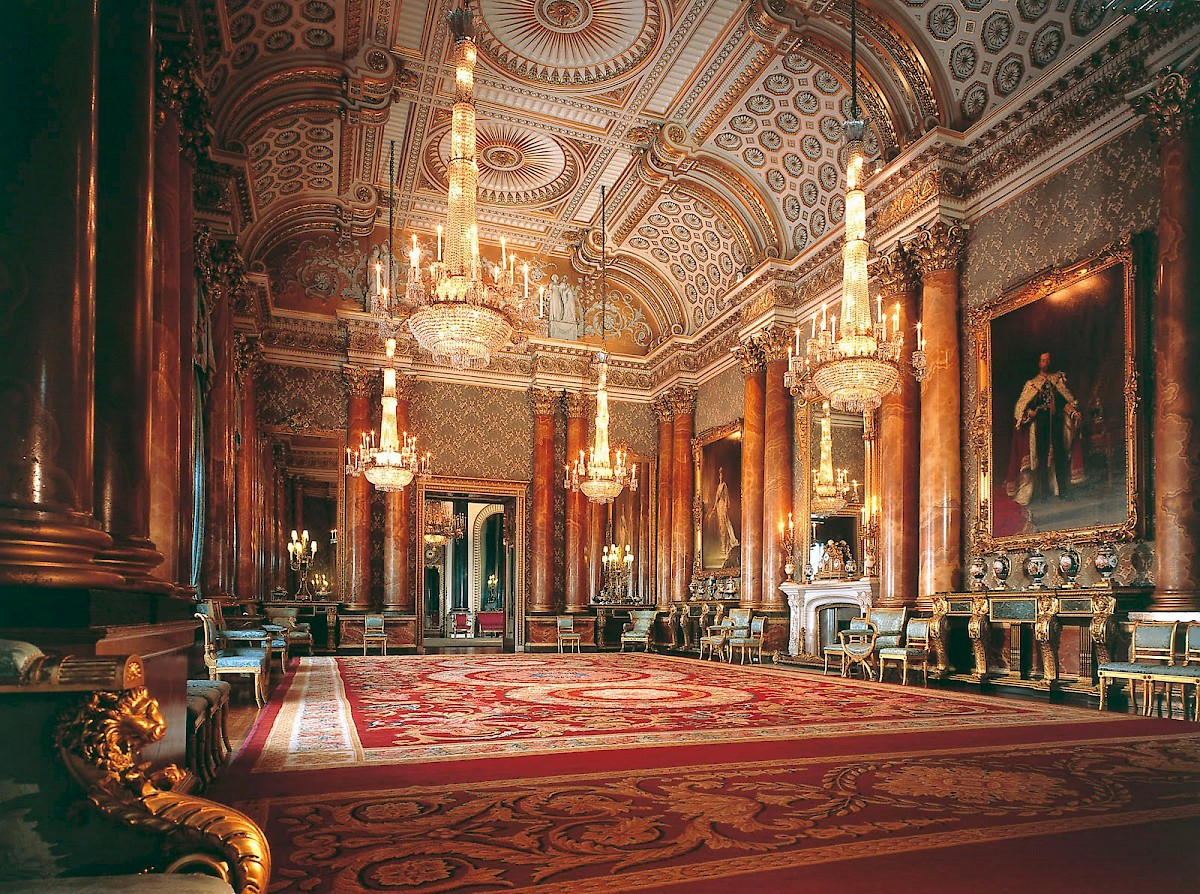 Throne room buckingham palace - The Blue Drawing Room At Buckingham Palace State Rooms London Photo By Unknown