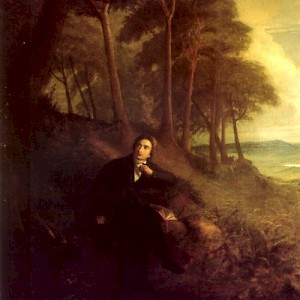 John Severn's Portrait of Keats listening to a nightingale on Hampstead Heath (1845) (Photo in Public Domain)