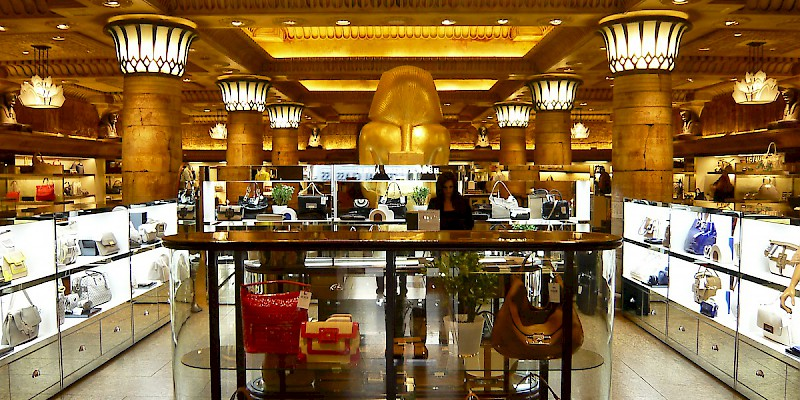 The Egyptian Room at Harrods, one of the world's most famous department stores (Photo by Herry Lawford)