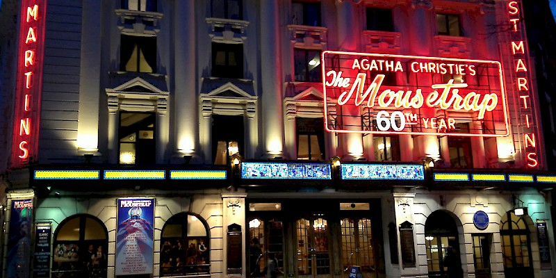 St. Martins Theatre, London, home of Agatha Christie's The Mousetrap (Photo by David McKelvey)