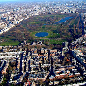 Hyde Park from the air (Photo by Del Adams)