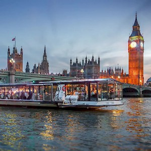 A cruise on the Thames River in London (Photo courtesy of Bateaux London Cruises)
