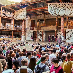 Groundlings pay just £5 to hear a play at Shakespeare's Globe Theatre (seats start at £15) (Photo © Reid Bramblett)