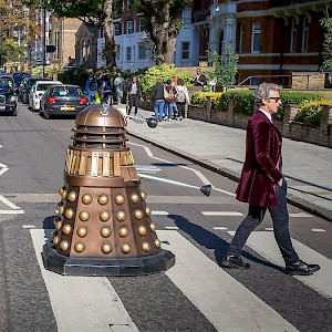 London is awash in pop culture icons, from Doctor Who to The Beatles' Abbey Road crosswalk—and, sometimes, both at once (Photo by BBC)