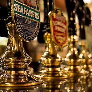 Taps at a London pub (Photo by Robert S. Donovan)