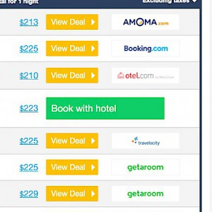 Aggregator sites, like Hotelscombined.com, compare rates from multiple hotel booking sites at once (Photo courtesy of Hotelscombined.com)