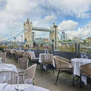 The views of Tower Bridge from Le Pont de La Tour are legendary (Photo courtesy of the restaurant)