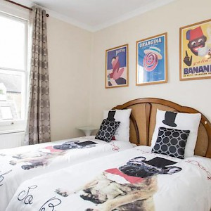 The Twin Room at Rue Saint Jacques Guest House B&B, London (Photo courtesy of the property)