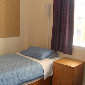 A room at the College Hall dorm (Photo courtesy of the University of London)