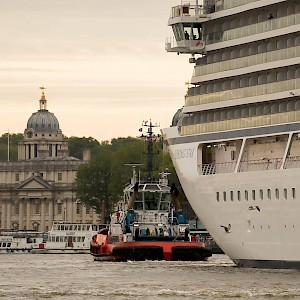 The Viking Star is the largest cruise ship to visit the downtown Port of London (Photo courtesy of Port of London)