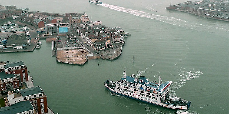 A ferry pulling into Portsmouth Harbour (Photo by Roger Kidd)