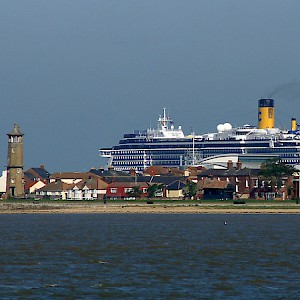 The Costa Atlantica at Harwich International Port (Photo © Ian Boyle)