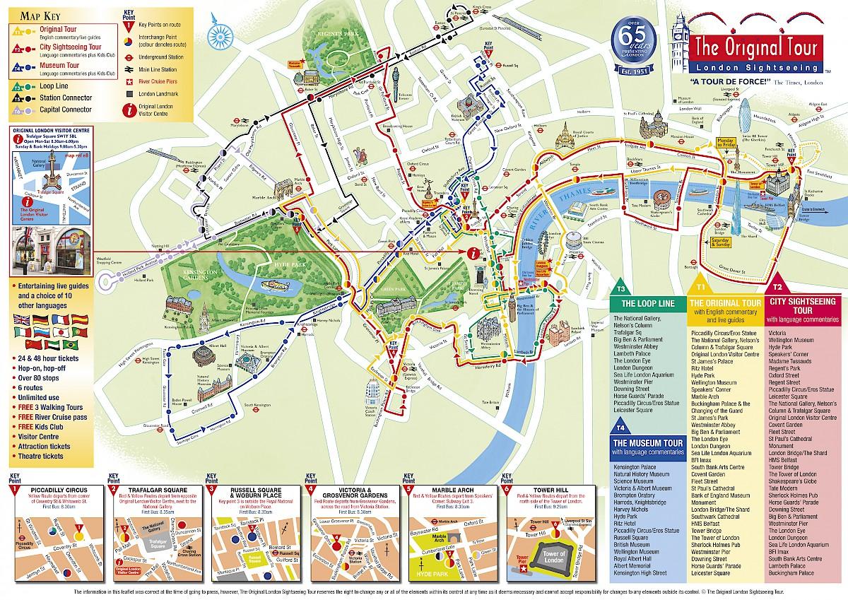 Bus tour London