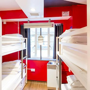 A bunk room at London's The Generator, one of the first in the new wave of stylish private hostels (Photo courtesy of the hostel)