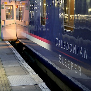 The Caledonian Sleeper, one of the U.K.'s overnight trains (Photo by Peter Reed)