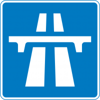 "Motorway (major highway—usually a ""dual carriageway,"" which is British for ""divided highway"")"