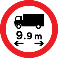 No vehicles over the proscribed length (useful for motorhome renters)