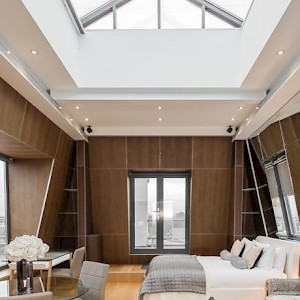 The Penthouse apartment at Kensington's The Harrington rents from just £261 per night—though rates for less lofty doubles start at £112 (Photo courtesy of the property)