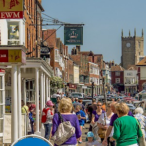 Shoppers on the High Street of Marlborough, Wiltshire (Photo )