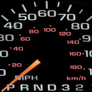 Most of us have stared at a handy miles-to-kilometers converter right under our noses on our car dashboards (Photo by Unknown)