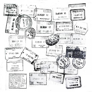 Passport stamps are actually temporary tourist visas (Photo by Elliott Scott)
