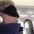 The author wearing his sleeping-on-the-plane gear, 24 plane sleeping tips, General (Photo © Reid Bramblett)
