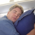 Those giant blow-up pillows do kind of work, though I find them more useful as an ottoman on the floor, 24 plane sleeping tips, General (Photo © Reid Bramblett)