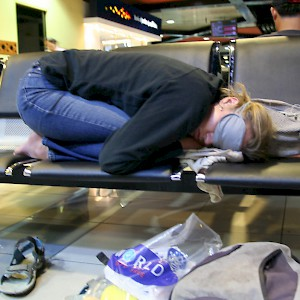 Air travel is tiring (Photo by Neil Rickards)
