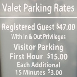 Hotel garages are expensive in every country (Photo )