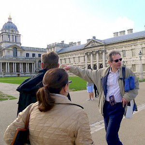 A walking tour of Greenwich with Context Travel docent Tim Hochstrasser, Associate Professor of International History at LSE (Photo courtesy of Context Travel)