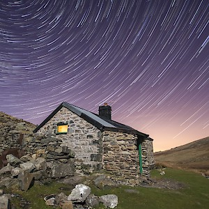 Cwm Dulyn Bothy in the Carneddau Mountains of Snowdonia, Wales (Photo by Kris Williams)