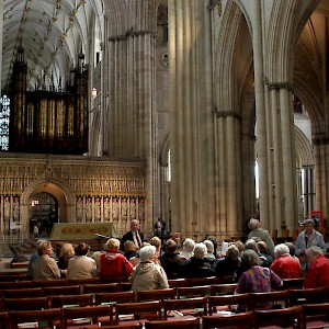 A tour inside the famous York Minster (Photo by Jon)
