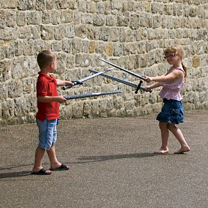Sibling rivalry takes on a new meaning at Leeds Castle (Photo by Aimee Rivers)
