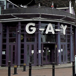 Canal Street is the heart of gay Manchester (Photo by David McKelvey)