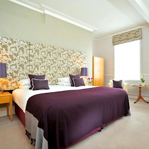 A bedroom at the Abbey Hotel (Photo courtesy of the hotel)