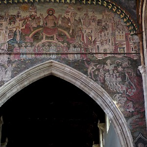 The Doom fresco in St Thomas church (Photo © Reid Bramblett)