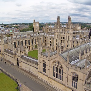 View of All Souls College from St Mary the Virgin's tower (Photo © Reid Bramblett)
