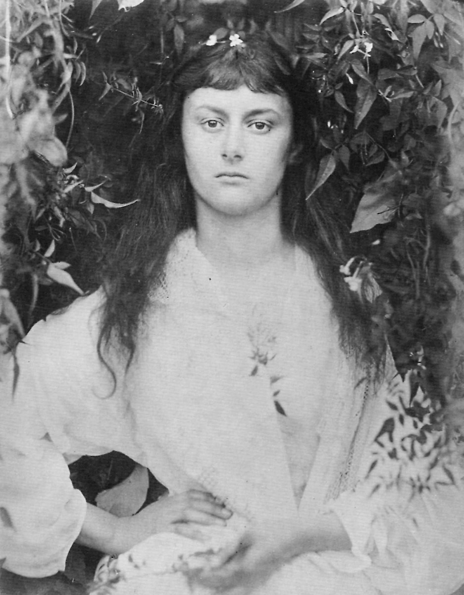 Alice Liddell, age 20, Interest (Photo by Julia Margaret Cameron)