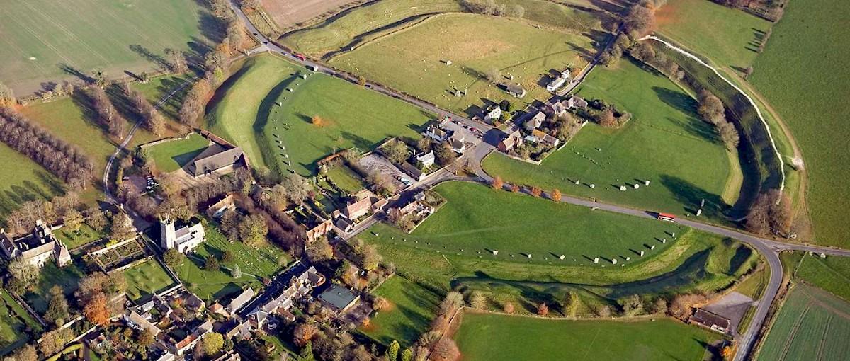 Avebury Ring Aerial View