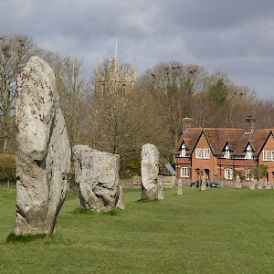 The standing stones of Avebury run right through the village (Photo by Barry Skeates)